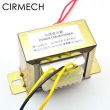 CIRMECH Двойной ac 18 в 50 Вт квадратный EI трансформатор для усилителя, усилитель, тоновая плата, 110 В 220 В, опционально