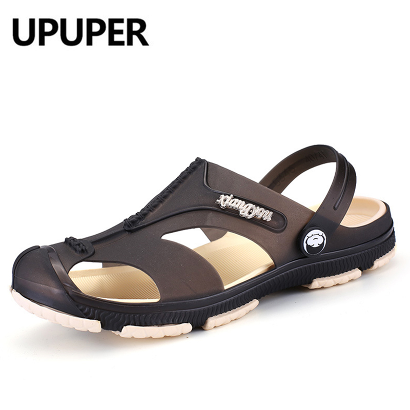 UPUPER 2019 NEW Mens Sandals Summer Hollow Soft Bottom Beach Slippers On-slip Men Shoes Flip Flops Cheap Male Sandals Water Shoe