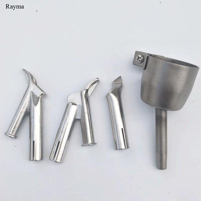4 個rayma熱風銃張り出し床スピード溶接ノズルラウンド三角 5 ミリメートル溶接チッププラスチックpvcビニール溶接機