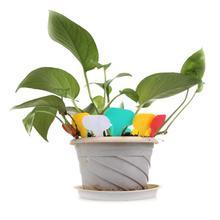 100 шт Пластиковые Т-образные садовые бирки, украшения для растений, цветочные этикетки, детские толстые бирки, маркеры для растений, украшения сада