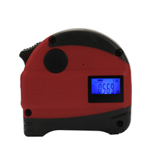 2-in-1 Multifunctional USB Rechargeable Digital Laser Distance Meter High Accuracy Tape Measure with Anti-fall Steel 40M