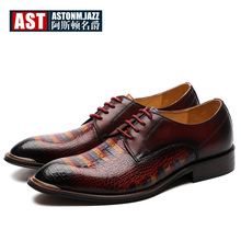 Luxurious Derby Shoes Men Full Grain Leather Mixed Color Hight End Formal Dress MUST HAVT Oxfords Upper Class Man