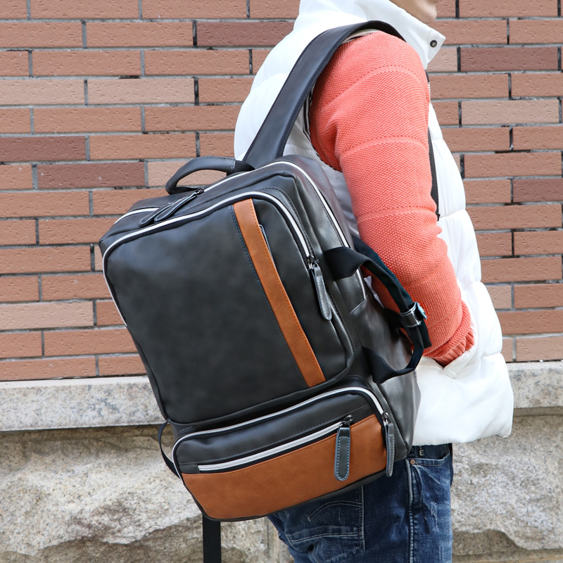 Sac à dos homme BILLETERA sacoche pour ordinateur portable grande capacité pour homme Vintage sacs à dos de voyage homme - 2