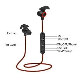 Image 3 - Bluetooth наушники вкладыши Беспроводные наушники с 5 часами работы от аккумулятора Спортивные Беспроводные наушники Bluetooth 4,1 для мобильного телефона