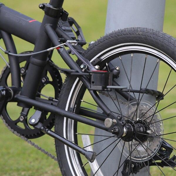 DAHON antivol allongé antirouille pliable vélo chaîne serrure facile à installer protéger vélo voiture serrure clé