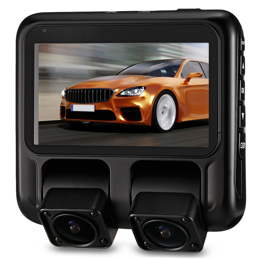 Zeepin X100 3 Inch Dual Cameras Car Dash Cam 150 Degree FHD 1080P Driving Recorder DVR