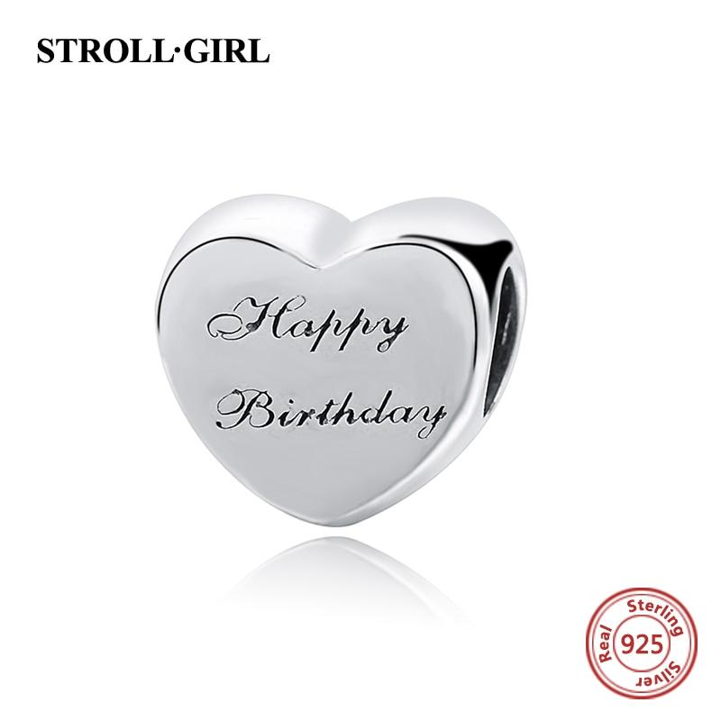 1P Happy Birthday Card Cake Candles Make A Wish Charm fit European Bead Bracelet
