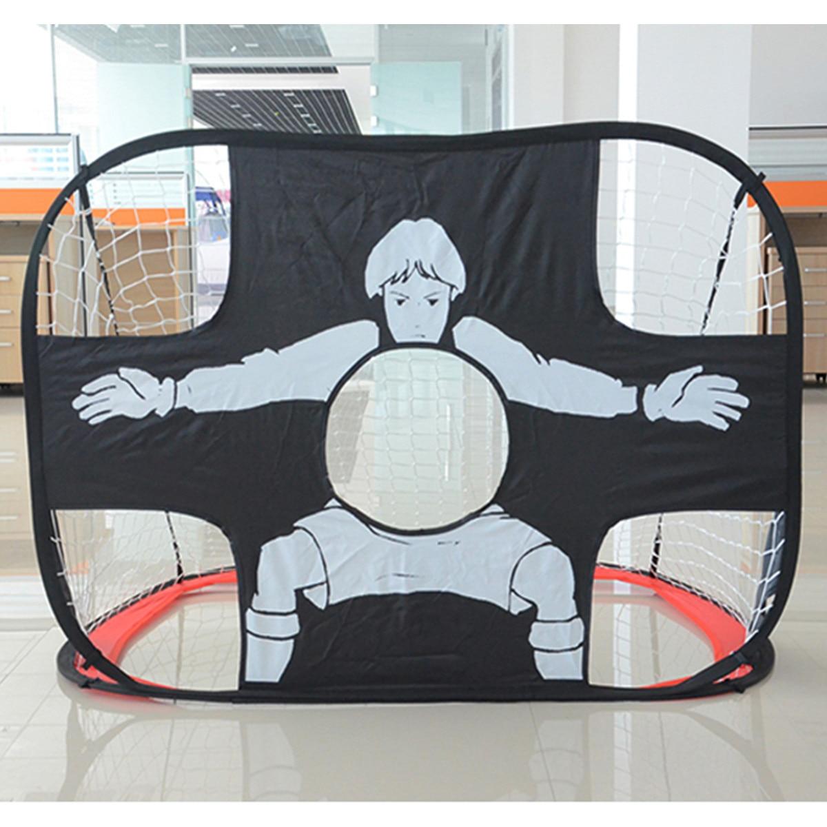 Folding Kid Football Gate Net Goal Gate Extra Sturdy Portable Soccer Ball Practice Gate for Children Students Soccer Training