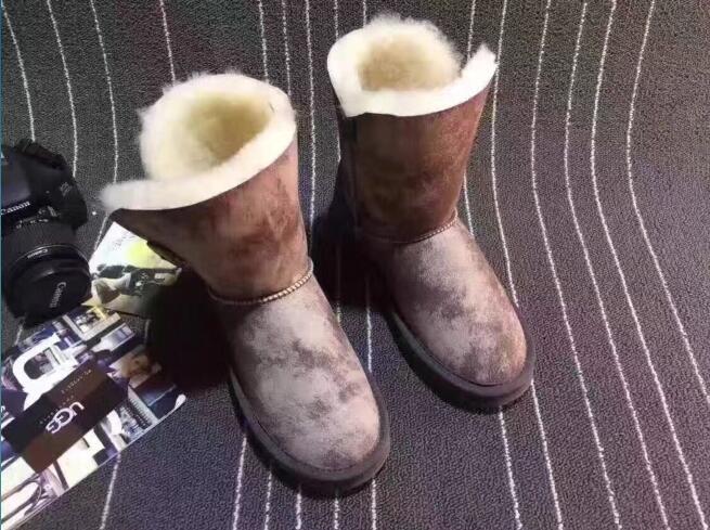 Bottes Offre chaussures Neige Réel Beige Printemps Demi Chine Marque Wom D'été Femmes De Mouton Laine Et Spéciale En Pour Véritable Peau Caoutchouc Les 2019 Bérets PxYBPqrf