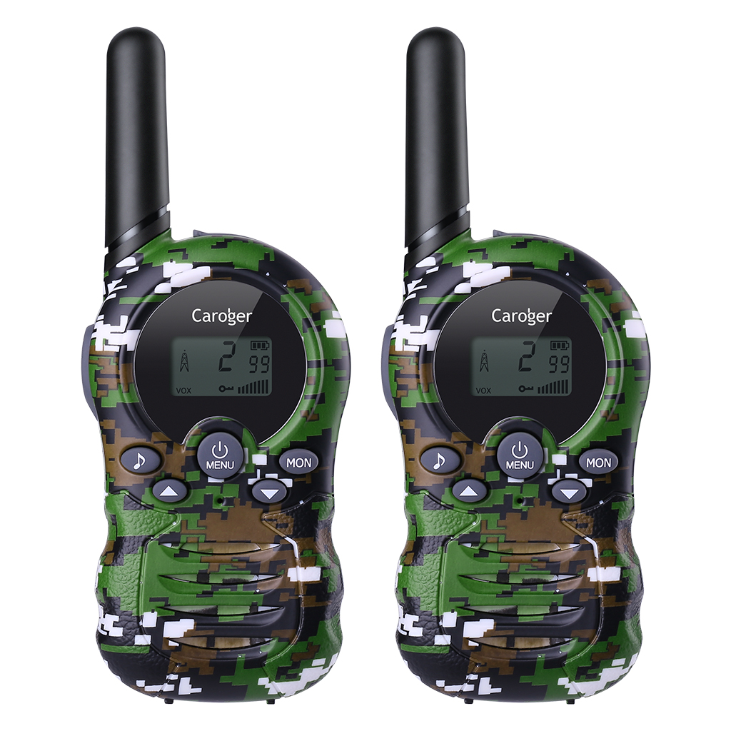 Caroger 22 Channel 2pcs Walkie Talkies FRS/GMRS 462/467MHZ Two Way Radio 2 Miles Range Handheld Interphone Camouflage(China)