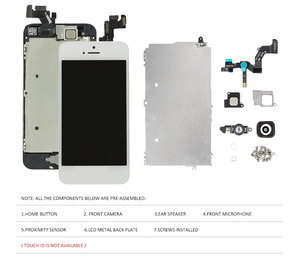 Image 3 - Complete Full Set LCD Screen For iPhone 5 5C 5S SE LCD Display Touch Digitizer Assembly Replacement Home Button+Front Camera
