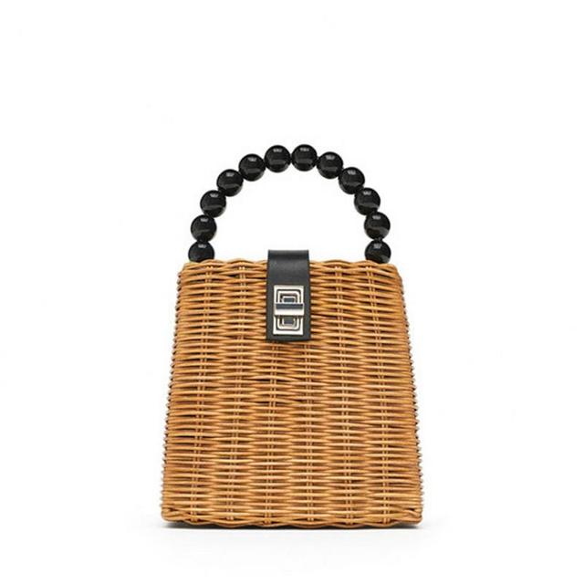 Small Box Tote Straw Bag Portable Shoulder Handmade Women Rattan Woven Beach Hand Bags For Female Ladies Handbag Fashion Totes