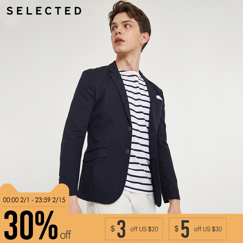 SELECTED brand new slim business blazer jacket men wedding coat Business suit tops| 415308003