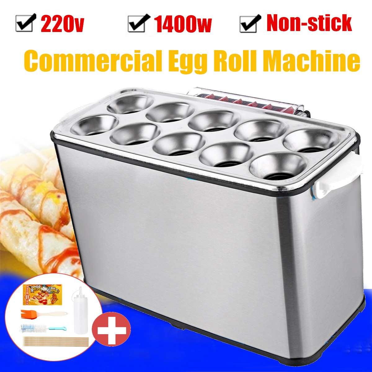 DIY электрический машина для изготовления яичного рулета автоматический омлет Плита Maker 1400 W 220 V Кухня аксессуары коммерческих кухонный приб