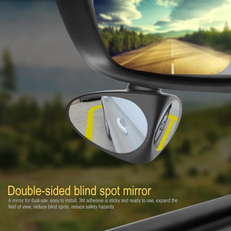 Image 4 - 2 in 1 360 Degree Rotation Double Sided Blind Spot Mirror Reversing Parking Auxiliary Car Rear View Mirror-in Mirror & Covers from Automobiles & Motorcycles