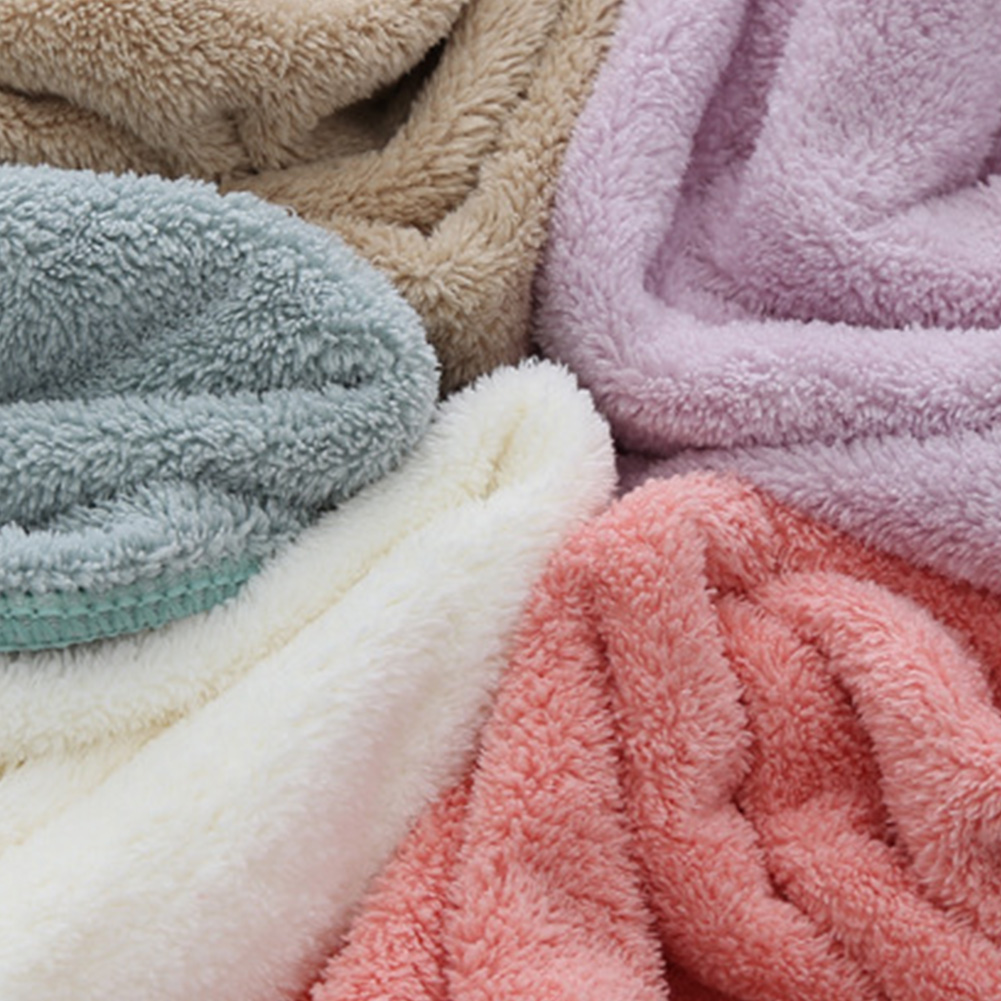 35*75cm Coral Velvet Water Absorbent Microfiber Car Washing Bath Double-sided Cleaning Salon Towel Camping Dry Hair Swimming
