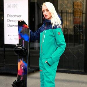 Image 2 - RUNNING RIVER Brand Waterproof Jacket For women Snowboard Suit women Snowboard Jacket Female Snowboarding Set Clothing #B8091