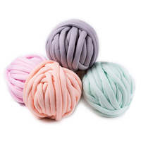 500g/ball Width 3cm Super Thick Merino Wool Chunky Yarn DIY Bulky Hand Knitting Blanket Basket Pillow Arm Roving Yarn AQ054