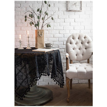 Square 60cm/90cm Nordic Style Openwork Tablecloth Piano Cover Towel Hand Crochet Lace Modern Fashion European Round Table Cloth