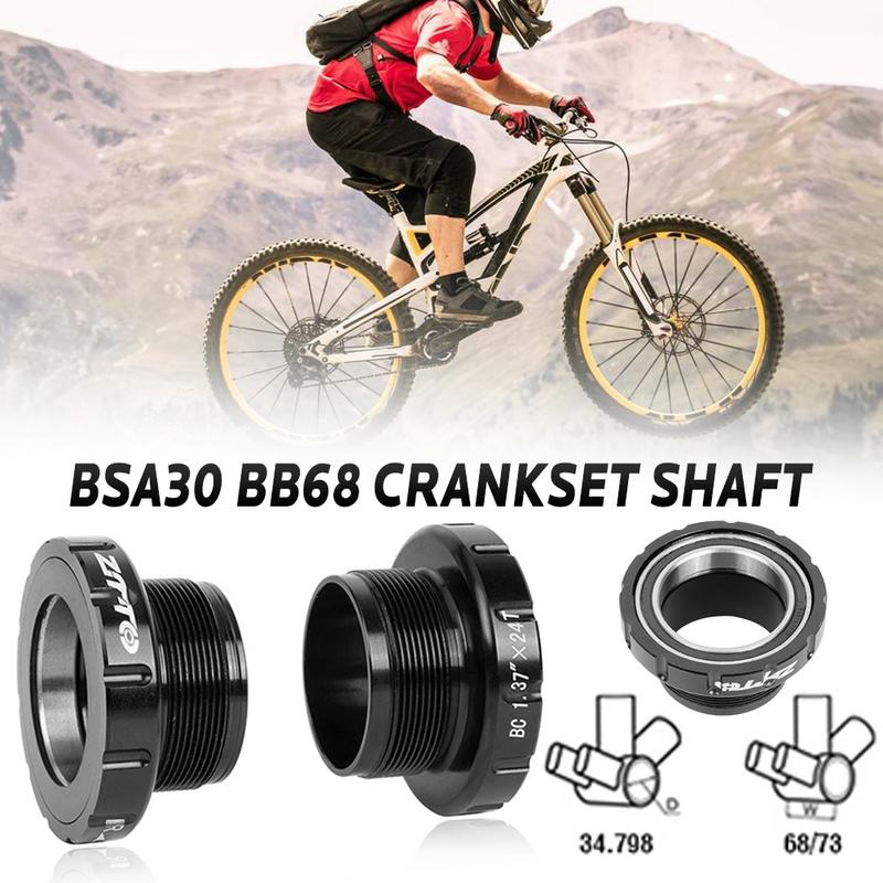 MTB Bike ZTTO BSA30 BB68 Threaded Five Way 68/35MM To BB30/PF30/386 Sprocket Wheel Bicycle Center Axle For Outdoor Cycling