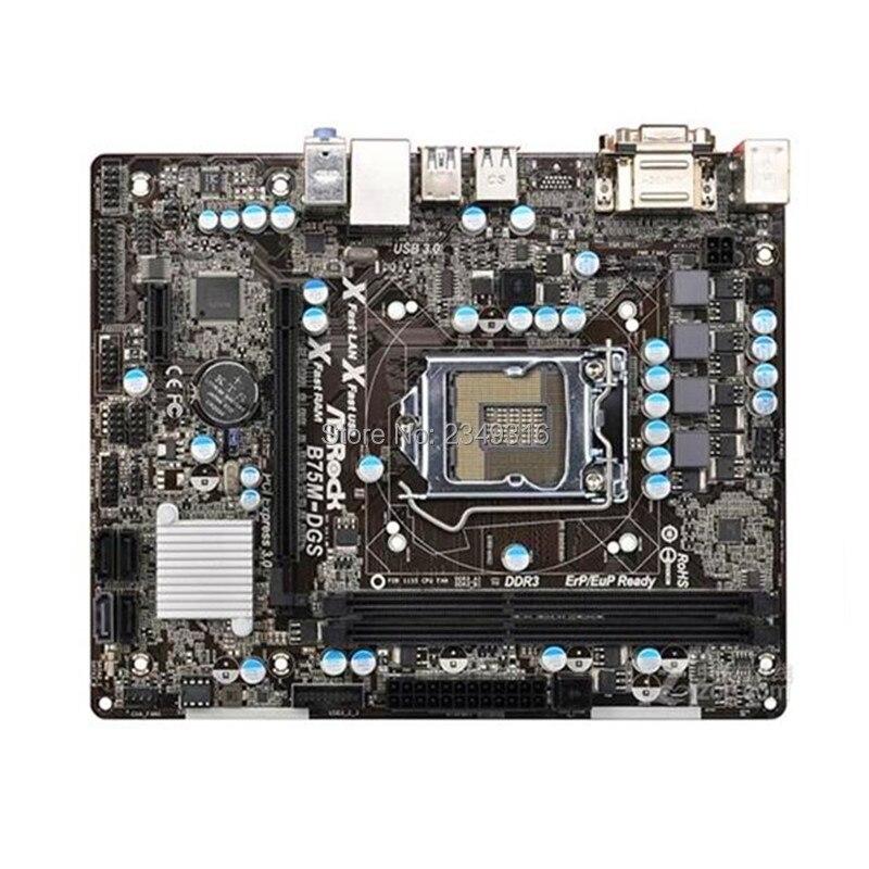 Used original for ASRock B75M DGS desktop motherboard LGA 1155 B75 USB3 Motherboard will test before