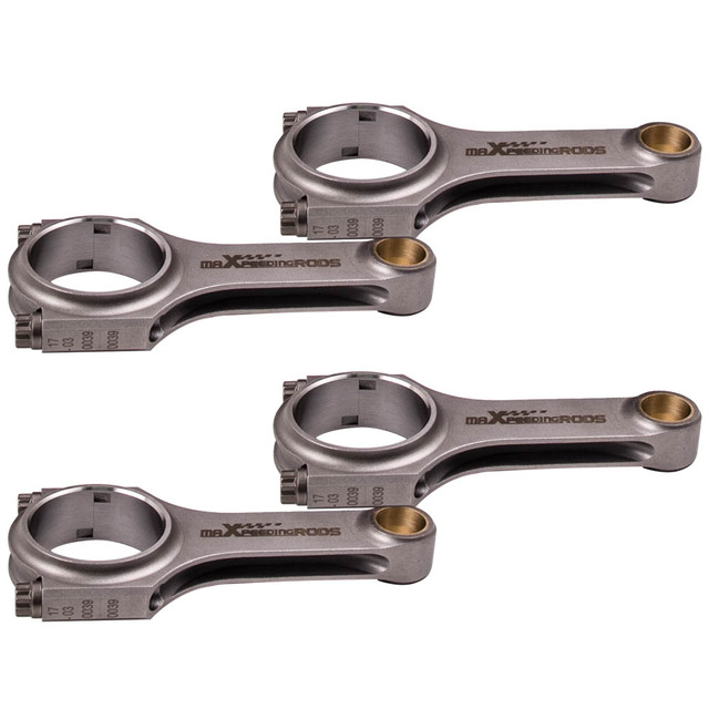for BMW 318I 318IS 318TI E30 E36 M40 Conrod Con Rod 140mm 4340 Connecting Rods Floating Balanced Crankshft EN24 Shot Peen