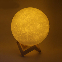 Night Light 3D Printing Moon Lamp Lunar USB Charging Night Light Touch Control Brightness Two Tone 8CM/10CM/15CM/20CM 45