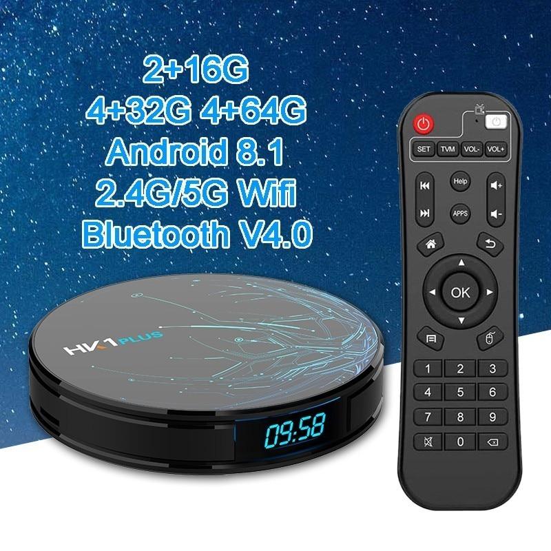 Hk1 Plus Smart TV Box Android 8 1 S905X2 Quad core DDR4 4gb 64gb 2 4g