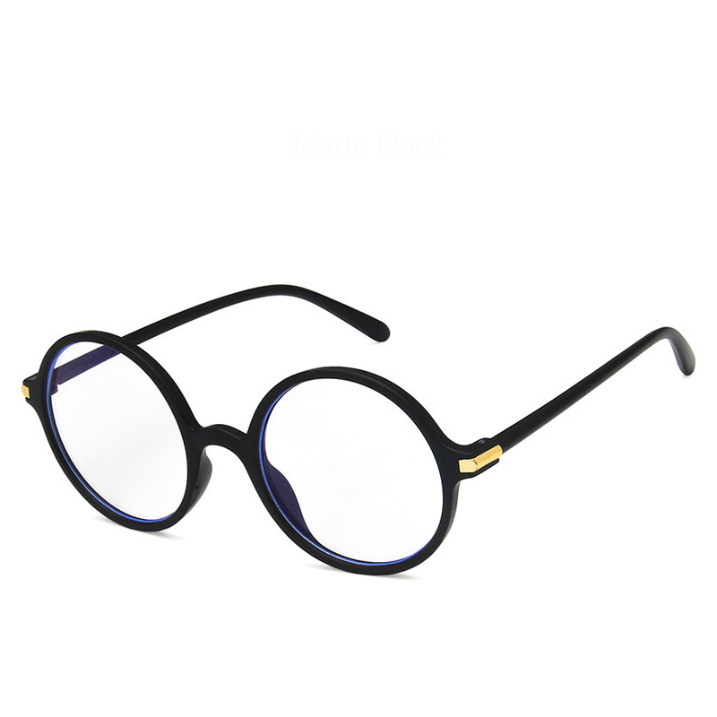 0443bb96580 Round Eye Glasses Frames Women s Anti Blue Light Retro Myopia Eyewear  Prescription Computer Transparent Spectacles For