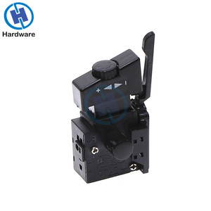 Hand Drill Speed Regulating Forward and Reverse Switches FA2-6/1BEK SPST Lock on Power Tool Trigger Button Switch Black