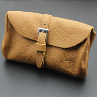 Soft Nature Solid 100% Real Leather Pipe Bag Purse Portable Travel Wood Tobacco Smoking Pipe Case/Pouch Smoking Tool Accessories