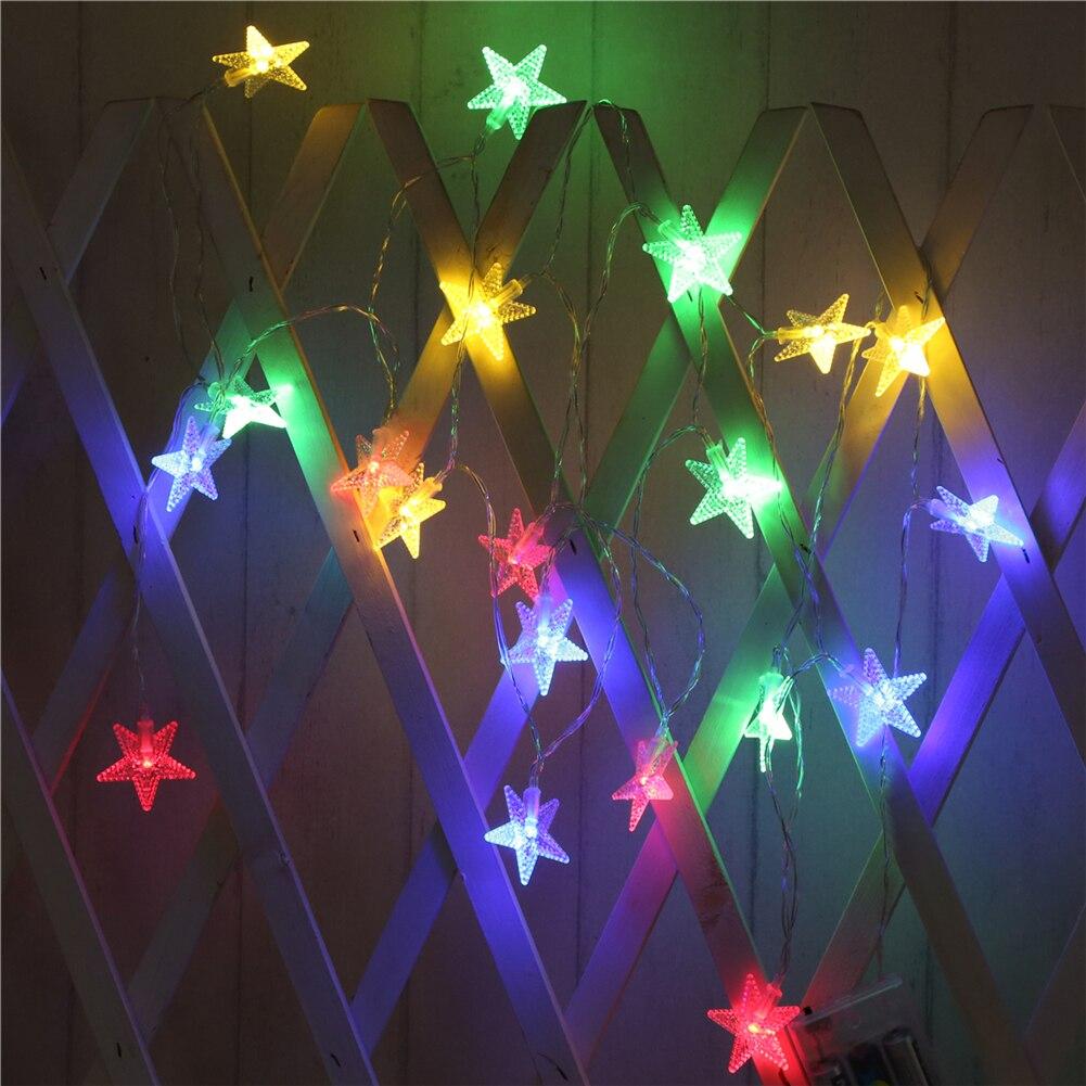 Fairy LightsPearl Starfish String Light1.5M-10M10L/20L/40L/96L3AA/31V US/EU Room Weding PartyWall Window Home Decoration Children Night Lamp