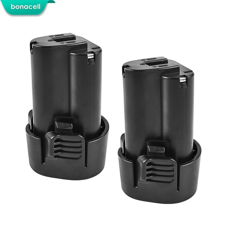 Bonacell 2pcs 1500mAh 10.8V Li-ion Battery For Makita BL1013 BL1014 BL 1013 BL 1014 LCT203W 194550-6 194551-4 195332-9 DF030D