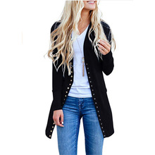 Long Button Loose Coat Sweater