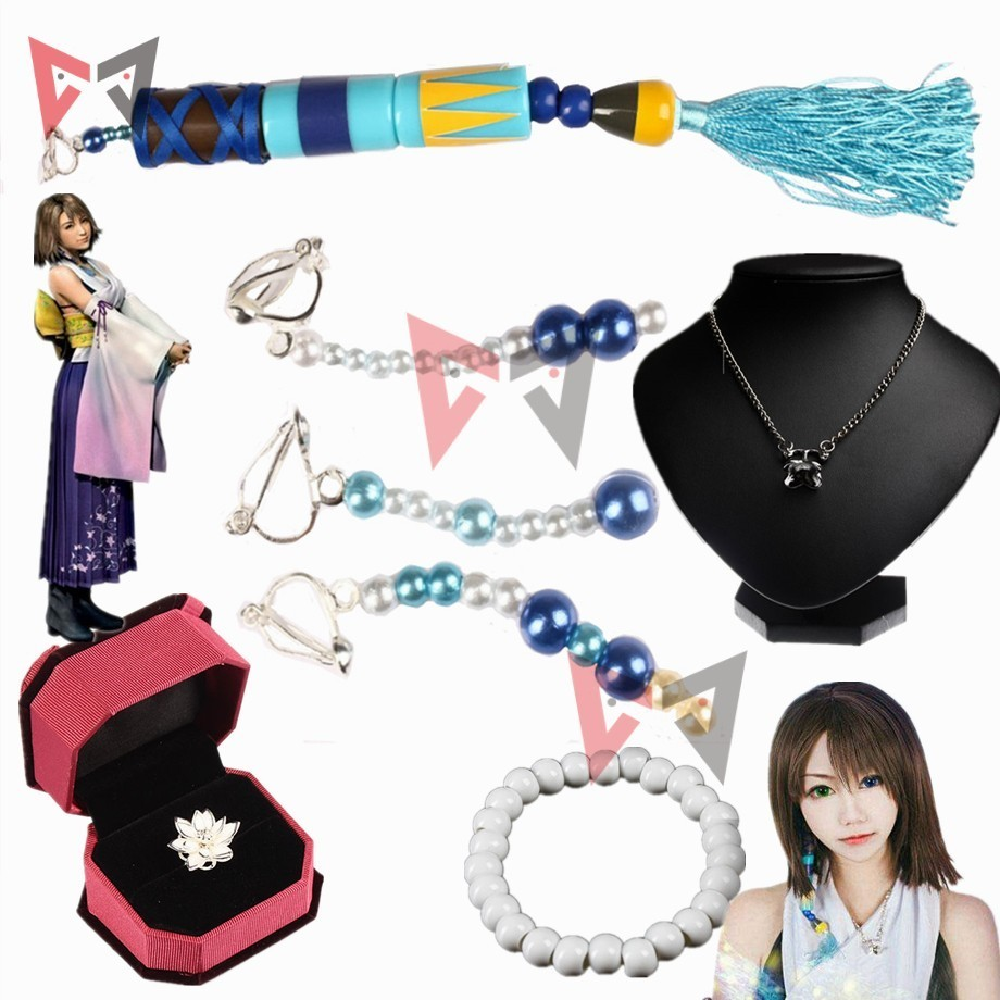 FF Final Fantasy Yuna Earring Cosplay Earring Costume Halloween Accessories