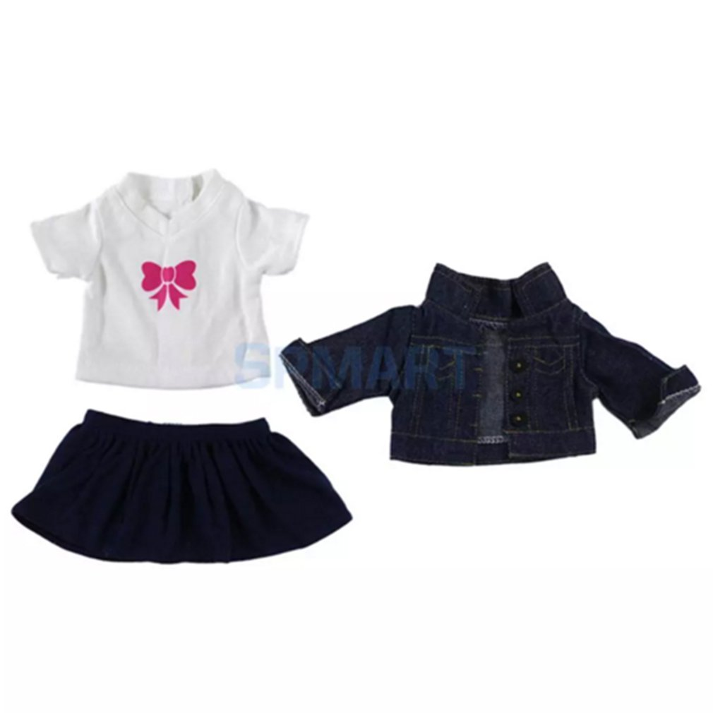 Jeans Coats Three-Piece Suit Jeans Set Doll Wardrobe Makeover for 18 inch Our Generation American Girl DollJeans Coats Three-Piece Suit Jeans Set Doll Wardrobe Makeover for 18 inch Our Generation American Girl Doll