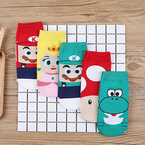 NEW Mario Bros Cartoon kids socks Figure Toys Super Mario Marvel Princess Cosplay Socks Children Birthday Christmas Toy Gift