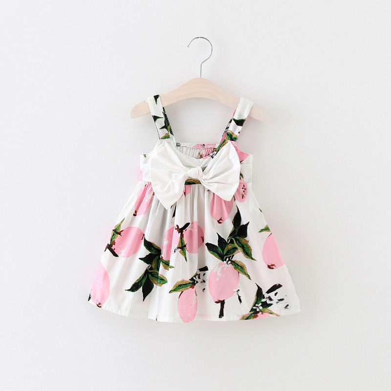 Pudcoco New Brand Baby Girl Sleeveless Flower Bow Knot Beach Dress