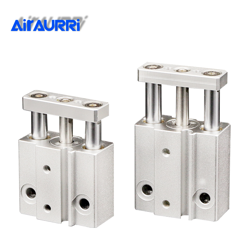 Mini 3 Rod Cylinder with Guide Rod Pneumatic Cylinder MGJ SMC Type MGJ6*5 MGJ6*10 MGJ6*15 MGJ10*5 MGJ10*10 MGJ10*15 MGJ10*20Mini 3 Rod Cylinder with Guide Rod Pneumatic Cylinder MGJ SMC Type MGJ6*5 MGJ6*10 MGJ6*15 MGJ10*5 MGJ10*10 MGJ10*15 MGJ10*20