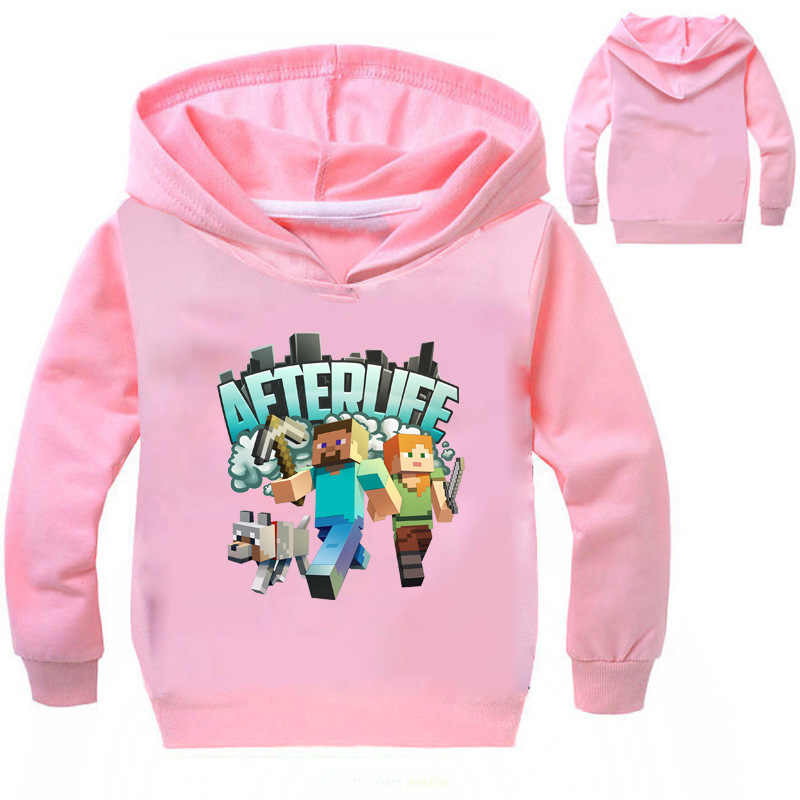 bff5c1fe ... 2019 Boys Sweatshirts Minecraft Cartoon Girls Hoodies Tops Kids Hooded  Children's Clothes T Shirts Brand Minecraft ...