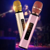 Hot New K6 Handheld Wireless Bluetooth Condenser Microphone Karaoke Speech Mic Speaker