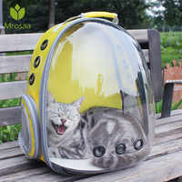 Breathable Dog Cat Transparent Space Capsule Shoulder Bag Pet Outside Travel Portable Carry Backpack Cat Carrying Cage New