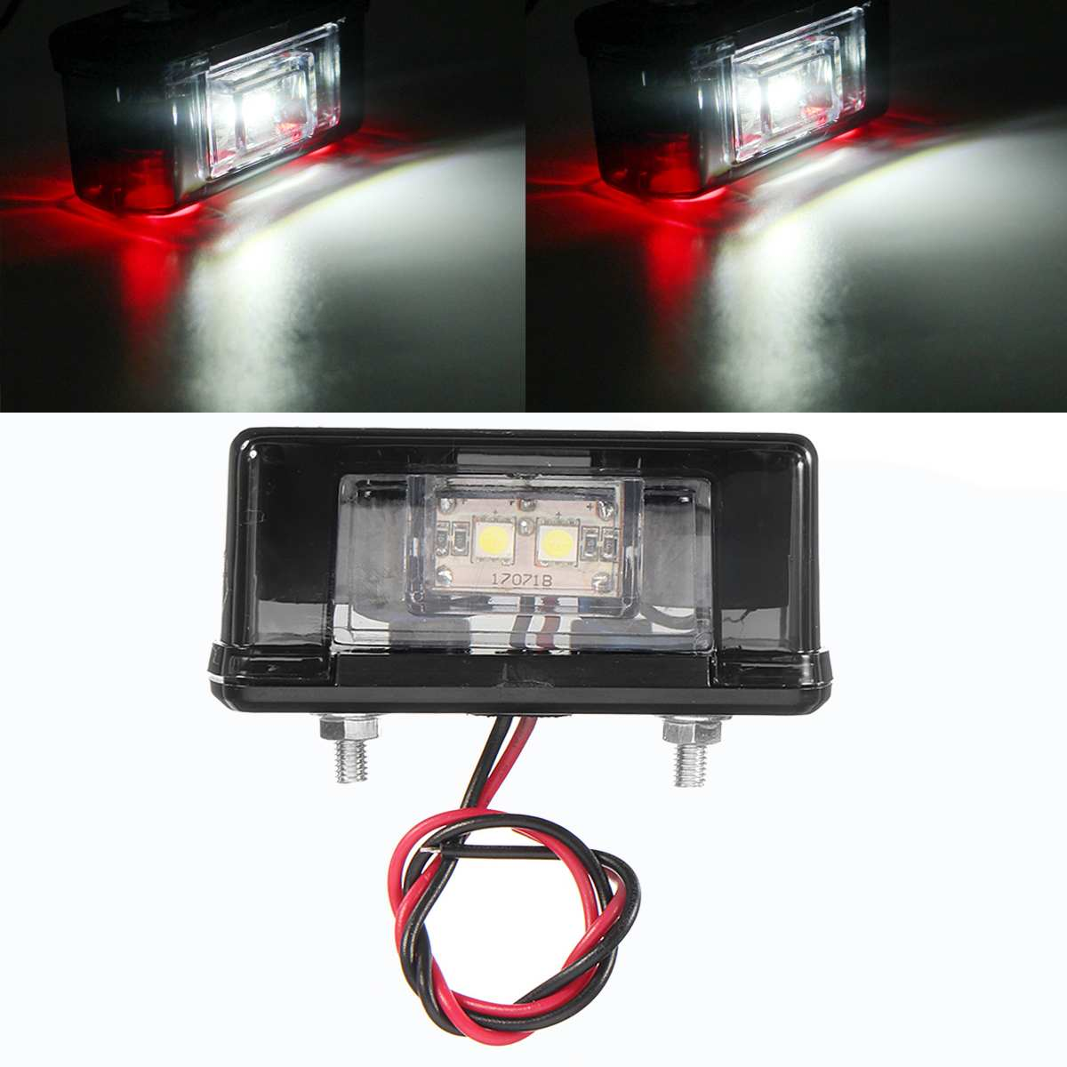 LED Car License Plate Light 12V 24V 4 SMD Waterproof Car Rear Number Licence Plate Lights Lamp Universal For Truck Trailer Lorry