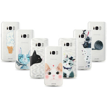 CASEIER Cute Cat 3D Phone Case For Samsung S6 S7 Edge Soft TPU Silicone Covers S8 Plus Note 8 Funda Coques
