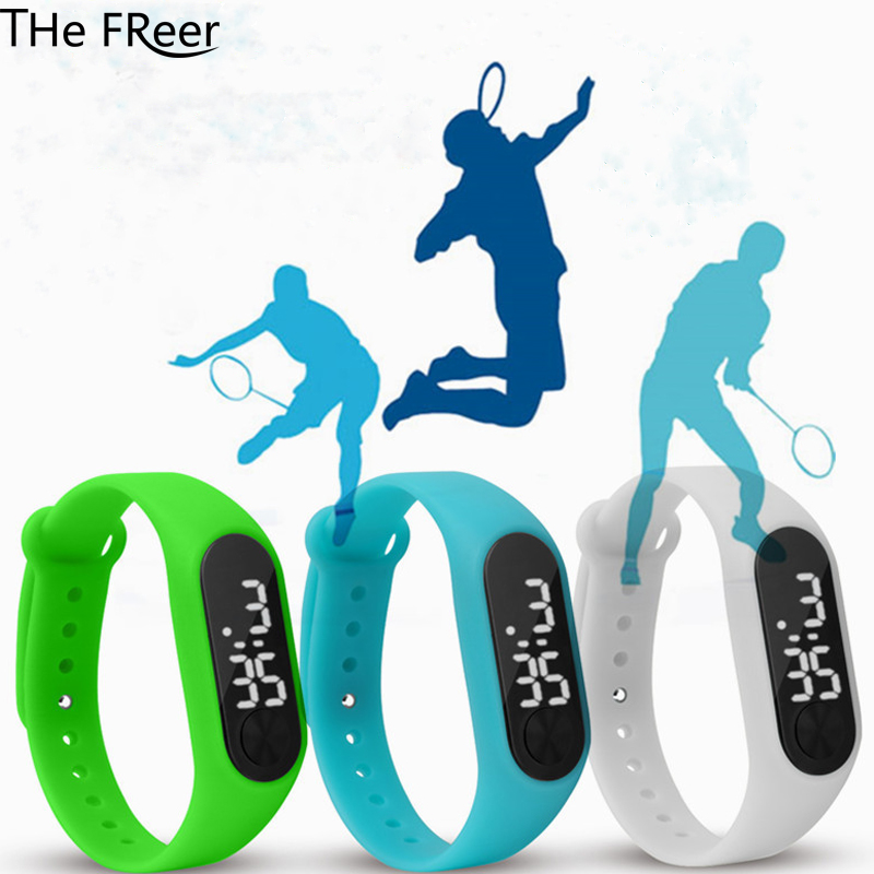 Children's Watch Sports Watch Leisure Digital Clock LED Student Electronic Silicone Wrist Band Adjust Watch