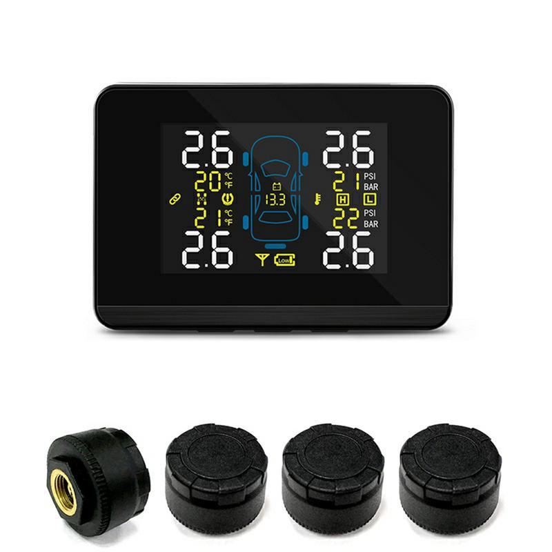 TPMS système de surveillance de la pression des pneus sans fil avec capteurs de batterie remplaçables externes écran LCD U903