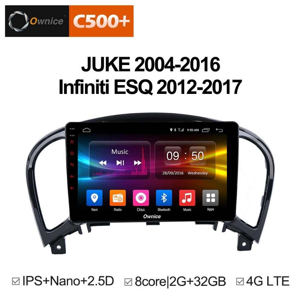 Ownice C500 + G10 Android 8.1 Octa core 2G RAM Auto DVD Speler GPS Voor NISSAN JUKE 2004- 2016 auto gps navigatie radio audio systeem