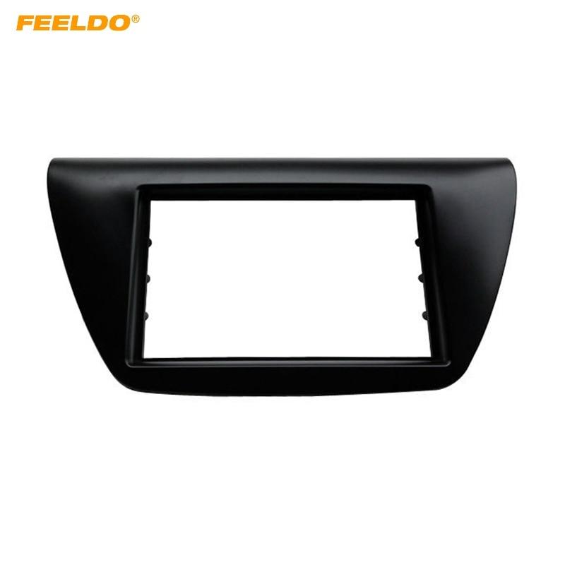 FEELDO autoradio 2Din panneau de Fascia pour Mitsubishi Lancer IX 2000-2010 installer cadre visage cadre tableau de bord Kit de lunette