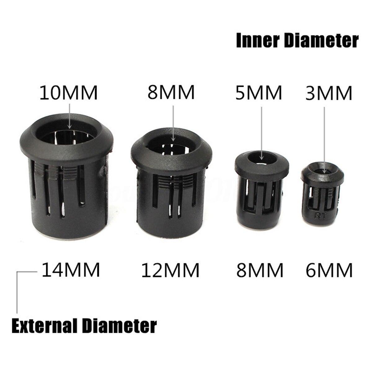 IKVVT  5pcs New 3mm~10mm LED Black Plastic Lamp LED Diode Holder Black Clip Bezel Mount