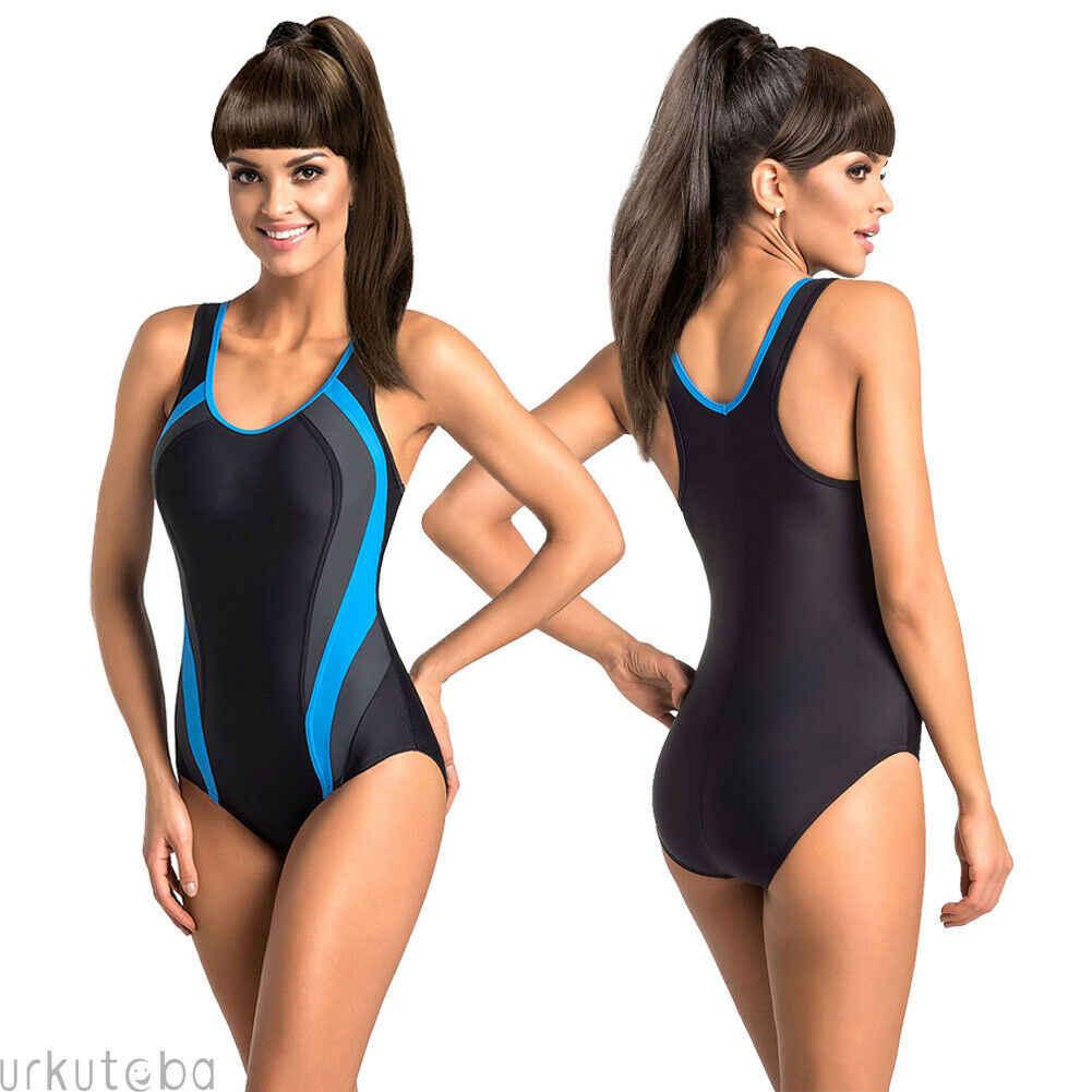 Полосатая одежда для плавания цельный купальник женский монокини с открытой спиной Купальник Спортивный боди пляжный купальный костюм Купальник красный желтый синий